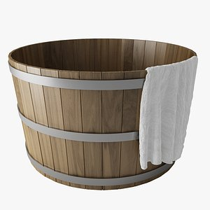 3D model hot tub wood
