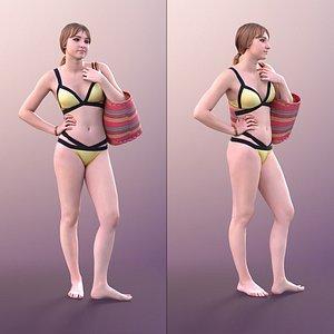 woman young bikini 3D model