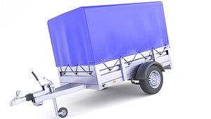 3D Cover Utility Cargo Trailer 29 model