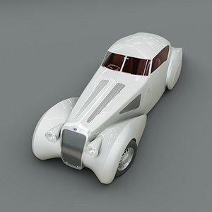 3D Luxury Classic Delage D8