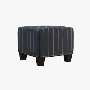 chair ottoman 3D model
