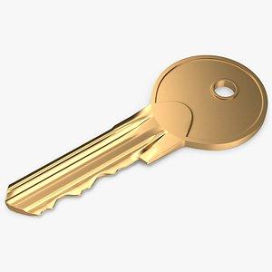 Door Key Golden V01 3D model