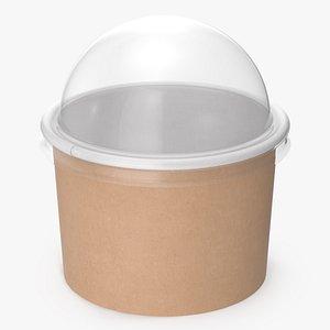 kraft paper food cup 3D model