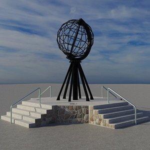3D model Nordkapp Globe