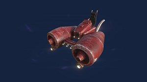 aircraft spaceship 01 - model