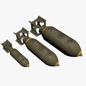 US WW2 Bombs 3D model