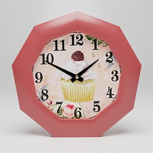 3D Wall clock Bon appetit