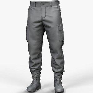 pants military zbrush 3D model