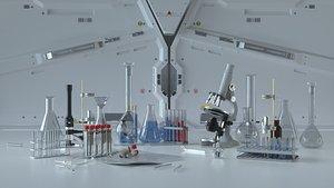 3D C4D Octane render Science Fiction Chemistry Laboratory