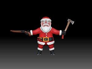 Badass Santa Claus 3D