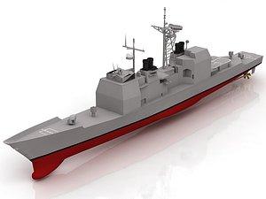 USS Valley Forge Ticonderoga Class Cruiser 3D model