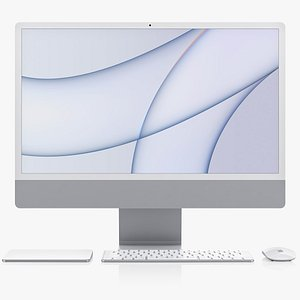 Apple iMac 24-inch 2021 Set 3D model
