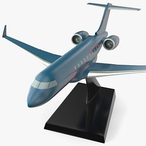 Business Jet Scale Model with Stand 3D model
