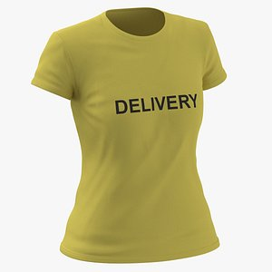 Female Crew Neck Worn Yellow Delivery 02