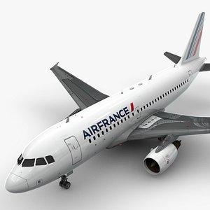 3D model Airbus A319-100 AIR FRANCE L1373