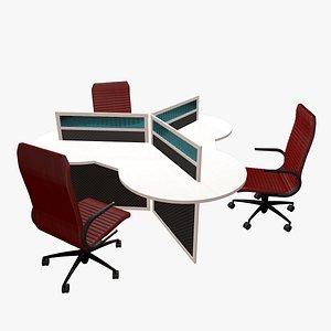 3D Triple desk