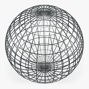 3D Wireframe Sphere 02