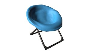 Round Lounge Chair 3D model