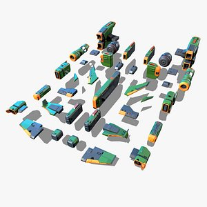3D RTS Space Games Modular parts model