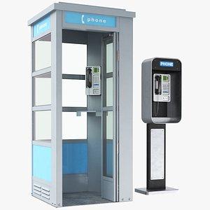 Two Public Phones 3D model