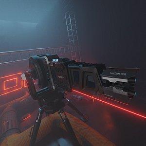 sci-fi turret 3D