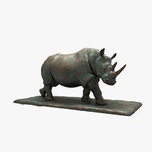 Sculpture Walking Rhino 3D model
