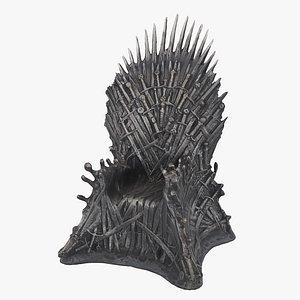 iron throne 3D