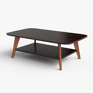 Alfanso Coffee Table varnished wood model