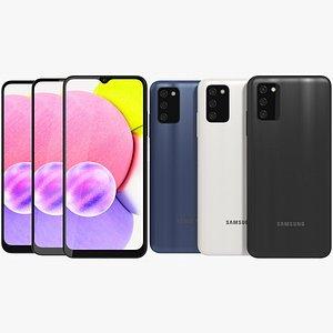 3D Samsung Galaxy A03s All Colors model