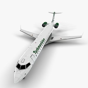 3D airlines bombardier challenger 870 model