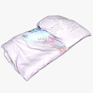 3D bedclothes bedding model