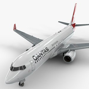boeing 737-8 qantas airways 3D