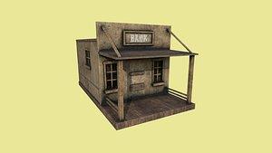 western bank - wild west 3D model
