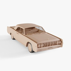 3D 1964 Lincoln Continental convertible
