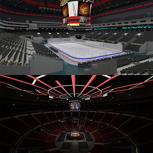 3D Ufc Arena and Ice Hockey Arena