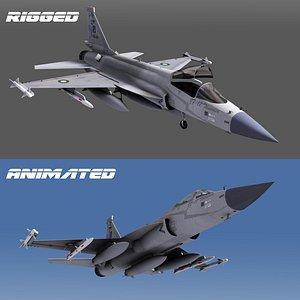 3D jf-17 fighter aircraft