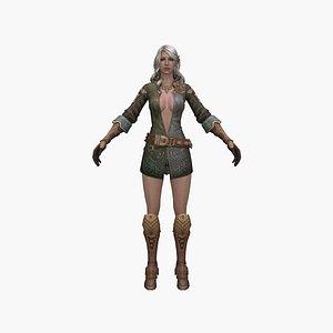 3D model queen fantasy