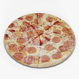 3D pizza pepperoni