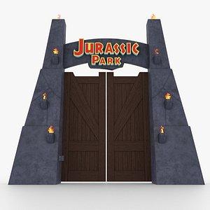 jurassic park gate 3D model