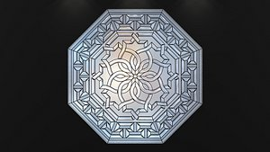 stained-glass window 3D model