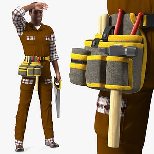 Afro American Woodworker 3D model