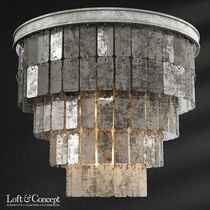 3D model chandelier fantine ceiling loft