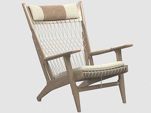 pp129 armchair hans j 3D model
