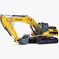 Tracked Excavator Generic Construction Equipment