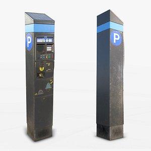 Parking Meter - Low Poly 3D