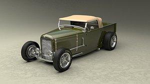 1929 hotrod 3D