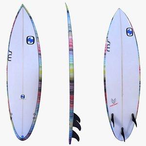 3D SURFBOARD MS SPEED RABBIT ROUND model