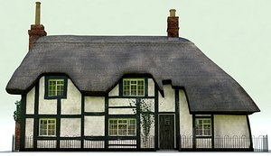 thatched tudor cottage model