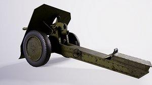 3D 76mm mountain gun mod 1938H model