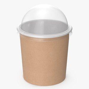 3D model kraft paper food cup